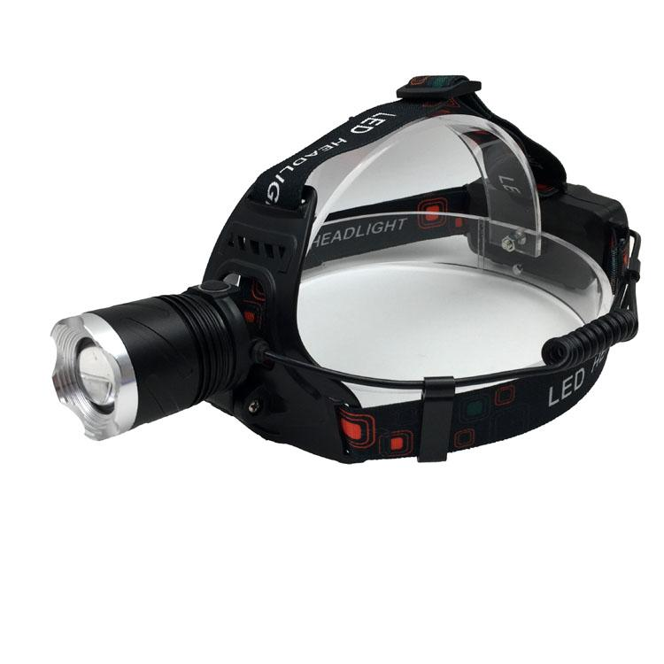 Powerful T6 LED Rechargeable headlamp Zoom Head Light LED Head Torch Light  8