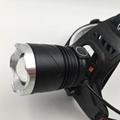强光T6充电头灯旋转调焦头灯LED头戴灯户外照明打猎 11