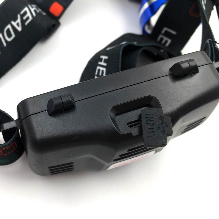 Powerful T6 LED Rechargeable headlamp Zoom Head Light LED Head Torch Light  13