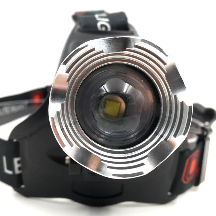 强光T6充电头灯旋转调焦头灯LED头戴灯户外照明打猎 14