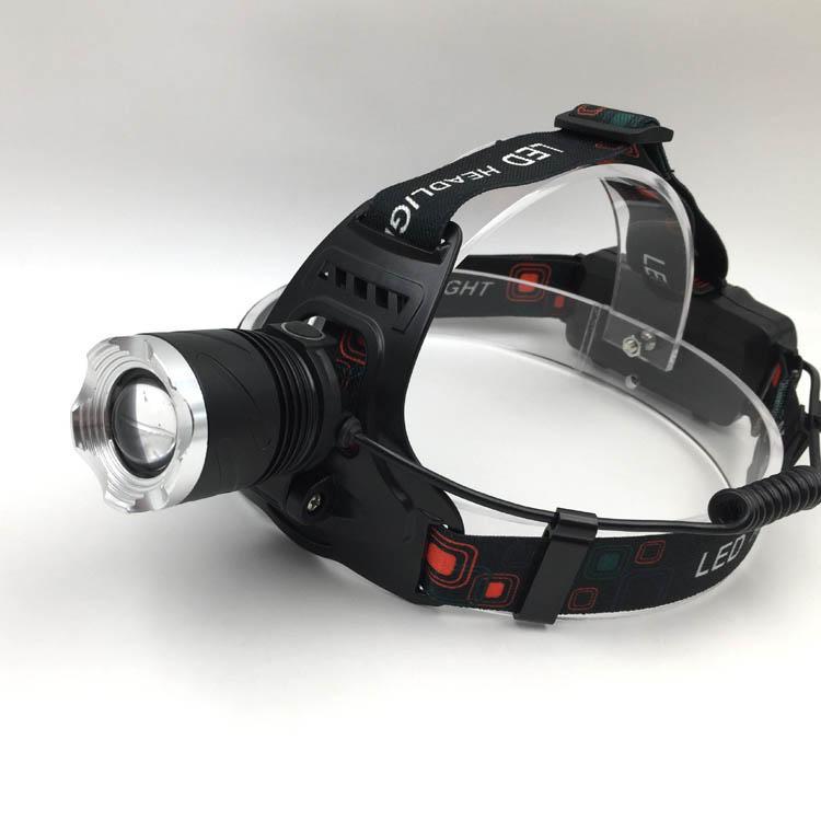 强光T6充电头灯旋转调焦头灯LED头戴灯户外照明打猎 1