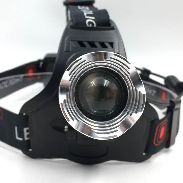 强光T6充电头灯旋转调焦头灯LED头戴灯户外照明打猎 15