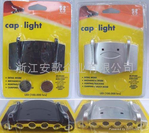 6LED書燈夾子燈閱讀燈帽燈帽子燈9003# 1