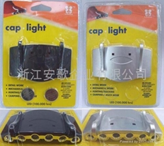 6LED Cap light/book light/reading light/clip light