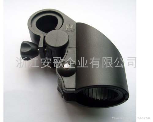 高档新款自行车手电筒架/手电筒夹子/自行车灯夹F1型 3