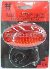 3/5/7功能5LED自行車尾燈/安全燈/警示燈