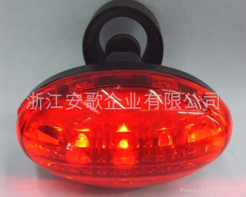 3/5/7功能5LED自行車尾燈/安全燈/警示燈 2