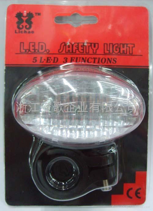 3/5/7功能5LED自行車尾燈/安全燈/警示燈 3