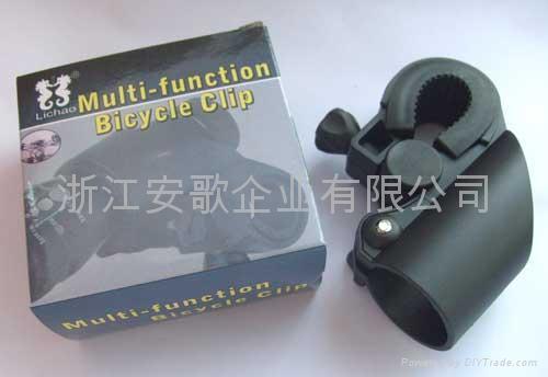 高檔新款自行車手電筒架/手電筒夾子/自行車燈夾F2型 1