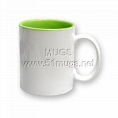 热转印马克杯-新型内绿双色杯