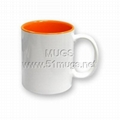 sublimation mug DIY coated mugs diy 11oz Blank Coated Two-Tone Mug