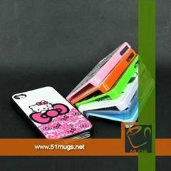 熱轉印手機殼i phone 4/4S  熱轉印手機殼 可印圖手機殼  手機外殼