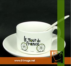 Sublimation coated coffee mug set