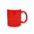 11oz Magic Color Changing Sublimation  Mug -- Red