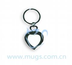 熱轉印鑰匙圈 鑰匙扣 心形 個性鑰匙扣 塗層鑰匙扣