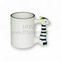 11oz sublimation coated animal ceramic