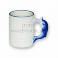 11oz sublimation coated animal ceramic mug with handle dolphin
