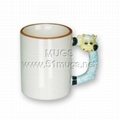 11oz sublimation coated animal ceramic mug with handle sheep
