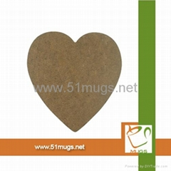 Round and square, heart shape MDF coaster
