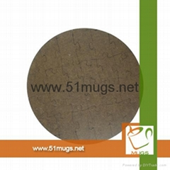 Sublimation Blank Customized MDF Round shape Puzzle Wholesale