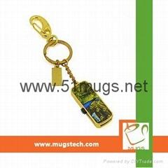 Sublimation Metal USB flash disk-8G Rectangle-golden