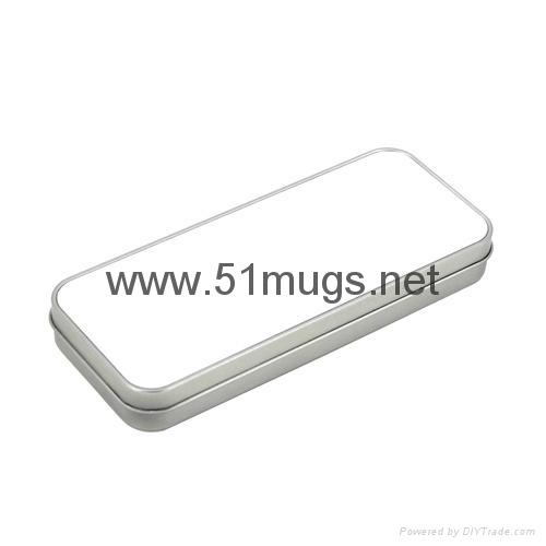 Sublimation Metal Tin Pencil Box-Sliver 1