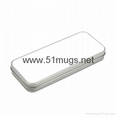 Sublimation Metal Tin Pencil Box-Sliver