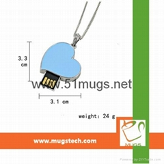 Sublimation Metal U-Disk Heart