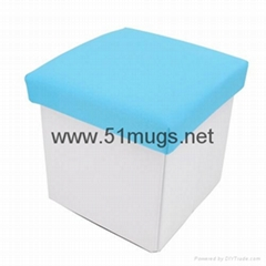 Sublimation Fabric Storage Box Chair-Blue