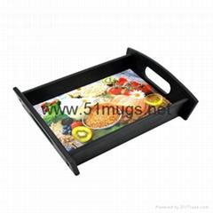 熱轉印H黑色托盤-A4-1cm
