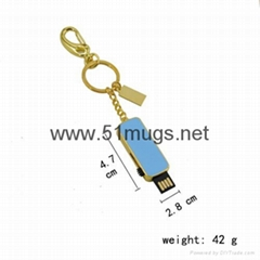 Sublimation Metal USB flash disk-8G Rectangle-golden