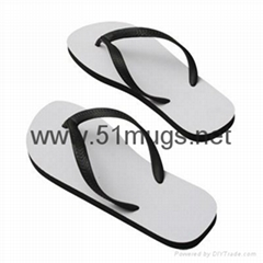 Sublimation Adult Sandal Slipper Black-Small