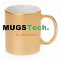 11oz Sublimation Gold Mug