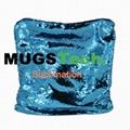 Magic Sublimation Flip Sequin Pillow Case Blue+Si  er