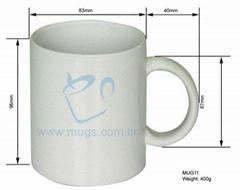 熱轉印塗層馬克杯-白杯 個性杯 陶瓷杯 熱轉印杯