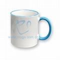 11oz Tow-tone Mug(color handle-Light