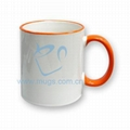 Tow-tone Mug(color handle) Sublimation