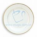 10寸双金线瓷盘 热转印金线盘