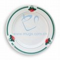 "8"" Rim Plate with Design Green"