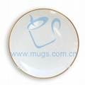 Sublimation coating Rim Plate w/ Gold