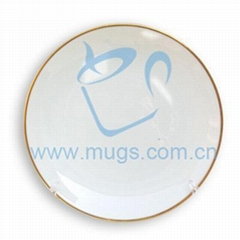 Sublimation coating Rim Plate w/ Gold Trim