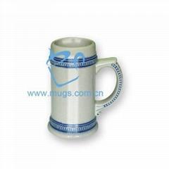 藍加金線啤酒杯 熱轉印啤酒杯 個性杯 馬克杯塗層杯