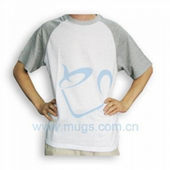 双色T恤  转印涤纶 转印棉T恤 烫画布艺 个性T恤 热转印布艺