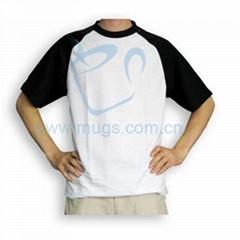 双色T恤  转印涤纶 烫画衣服 烫画布艺 个性T恤 热转印布艺