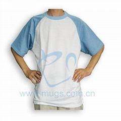 双色T恤 热转印衣服 烫画棉T恤 烫画布料 个性T恤