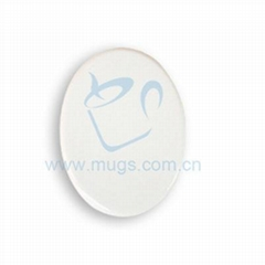 "4"" Oval Tile from Mugs T"