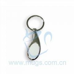 熱轉印鑰匙扣 水滴 影像鑰匙扣 個性鑰匙扣 熱轉印金屬品