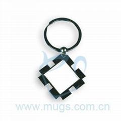 正方形花邊 鑰匙扣 鑰匙圈 可印圖鑰匙扣 個性鑰匙扣