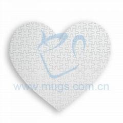 熱轉印拼圖(心形)個性拼圖 影像拼圖 燙畫拼圖 心形拼圖