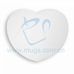 Sublimation 3mm Heart Shape Mouse Pad